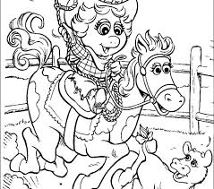 Western Hat Coloring Page Cowgirl Pages Miss Piggy Free Printable For Kids Best Cowboy