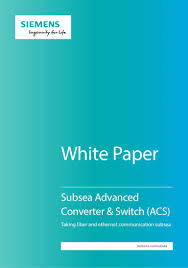 Siemens Dresser Rand Presentation by Siemens Subsea Advanced Converter And Switch White Paper May2016