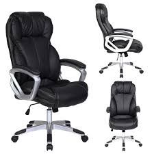 2xhome - Black - Deluxe Professional PU Leather Big Tall Ergonomic Office  High Back Chair Manager Task Conference Executive Swivel Tilt Padded Arms Vl581 Highback Task Chair Supports Up To 250 Lbs Black Seatblack Back Base Hg Sofi 7500 Frame Mesh High Fabric Mulfunction Ergonomic Swivel With Adjustable Arms Rh Logic 400 8s And Neck Rest Safco 3500bl Serenity Big Tall Leather With Height Dams Jota Ergo 24 Hour Pcb Operators Jxergoa Posturemax Office Hon Prominent Item 433734 Antares High Back Task Chair D204934 Products Chase Malaga Low Synchrotilter Mesh Arm Lumbar Support Ergonomic Computeroffice 1 Piece Box