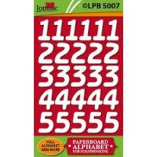 4831 Lomiac Kartonnen Cijfers LPB5007