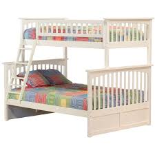 Atlantic Furniture Columbia Twin Over Full Bunk Bed in White AB