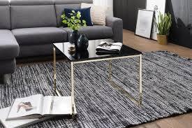 wohnling couchtisch riva 60x50x60 cm metall holz sofatisch schwarz gold design wohnzimmertisch quadratisch stubentisch mit metallgestell
