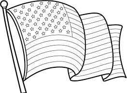 Awesome American Flag Coloring Page