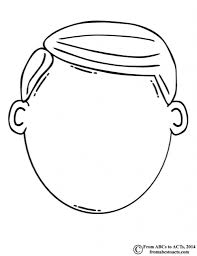 Face Coloring Pages Archives With Blank Page Throughout