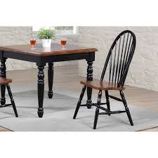 Coreen Black And Cherry Windsor Back Dining Side Chair