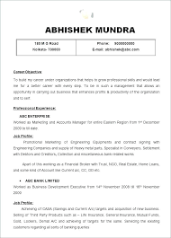 Resume Format Examples For Job Film Best Formats Free Samples