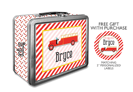 100 Fire Truck Lunch Box Truck Personalized Classic Tin