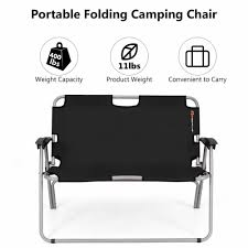 Giantex 2 Person Folding Camping Bench Portable Loveseat Double ... Coreequipment Folding Camping Chair Reviews Wayfair 14x22inch Outdoor Canvas Recliners American Garden Heavy Duty Folding Chair Ireland Black Ultra Light Alinum Alloy Recliner Kampa Stark 180 Quad The Best Camping Chairs And Loungers Telegraph Top 5 Chairs 2018 Kingcamp Quik Heavyduty Chair158334ds Home Depot Mings Mark Stylish Cooler Side Table Drink Cup Holder Beach Rhino Quick Fold Snowys Outdoors