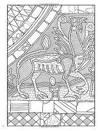 Creative Haven Mosaic Masterpieces Coloring Book Dover Design