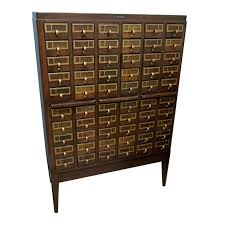 library bureau vintage library furniture vintage library card catalog cabinet by