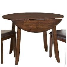 Raisin 42 Inch Drop Leaf Round Dining Table