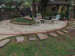 Pea Gravel Patio Images by Decor U0026 Tips Backyard Fence And Gravel Patios With Pea Gravel