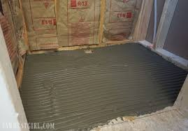tile ready shower pan installation sawdust girl