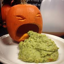 Picture Of Pumpkin Throwing Up Guacamole by Ljcfyi October 2014