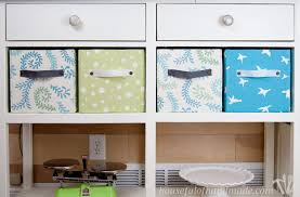 Decorating Fabric Storage Bins by Easy Diy Fabric Storage Boxes A Houseful Of Handmade