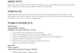 Resume Examples Objective Resumes Samples Good Objectives Sample For In Professional E