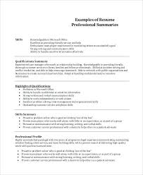 Resume Summary Samples Account Manager 8 Examples Word Sample Templates Professional