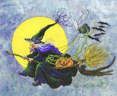 Vintage Halloween Collector Weeny Witch by Witch Knows Someone Is Nearby Vintage Halloween Pinterest