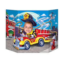 100 Fire Truck Birthday Party Photo Prop Case Of 6