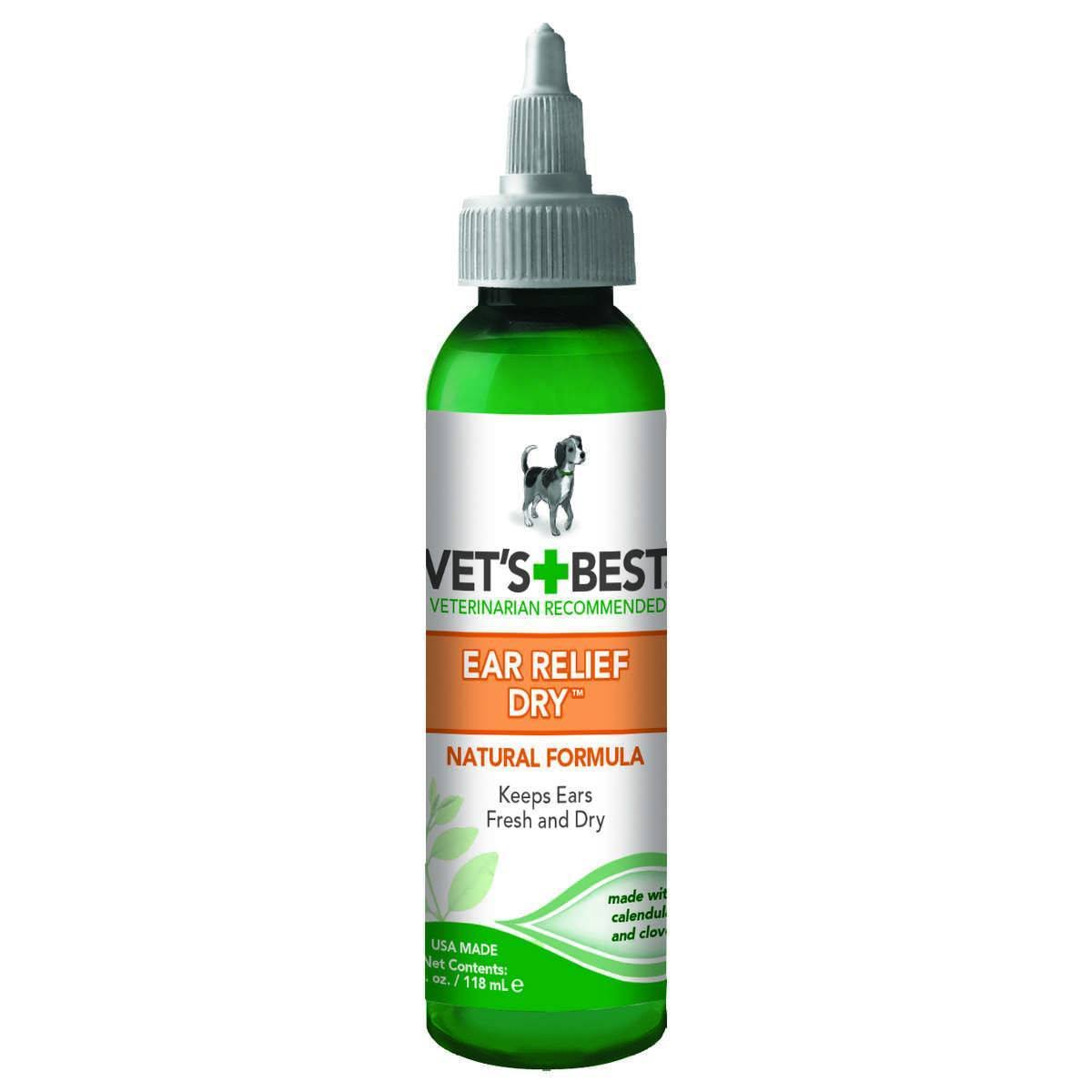 Vet's Best Dog Dry Ear Relief - Green, 4oz