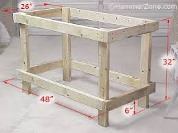 Free Simple Storage Bench Plans by Best 25 Workbench Plans Ideas On Pinterest Work Bench Diy