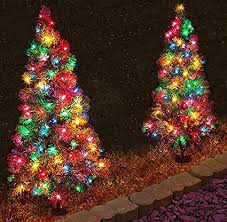 Amazon Com Set Of 4 Pre Lit 3 Tall Artificial Pathway Christmas Rh Tree LED Yard Decorations Outdoor Wire Trees