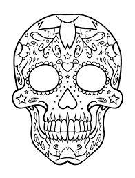 Easy Sugar Skull Day Of by Easy Sugar Skull Owl Clipart Clip Art Library