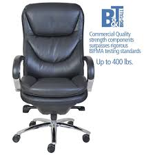 500 Lb Rated Office Chairs by Serta At Home 45496 500 Series Executive Puresoft Faux Leather