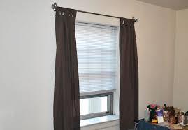 Curtain Rod Set Screws by How To Hang Curtains Without Making Holes In The Wall Interior