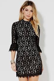 black lace dress forever 21 naf dresses