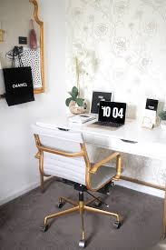 Crate And Barrel Strive Desk Lamp by Blogger Office Tour Gold Office Feminine Office And Office Desk
