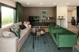 wohnideen wohnzimmer in erdtönen ledersofa in beige und