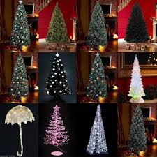 Pre Lit Pencil Christmas Trees Uk by Interior Ft Lighted Pencil Christmas Tree Spiraler Optic Led