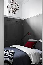 Using Resene Gravel On The Lower Part Of Walls Keeps This Smaller Bedroom In Proportion
