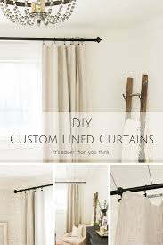 Fabric For Curtains Diy by Diy Custom Lined Curtains It U0027s Easier Than You Think Making