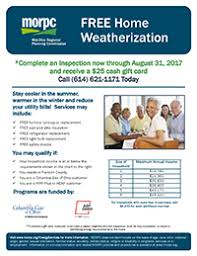 free home weatherization gift card offer homeport
