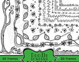 Hand Drawn Doodle Page Border Clip Art