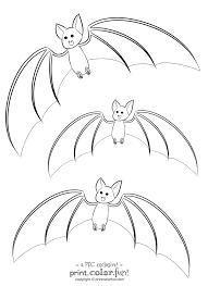 3 Cute Bats Coloring Page