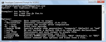 The TypeScript Command Line Compiler
