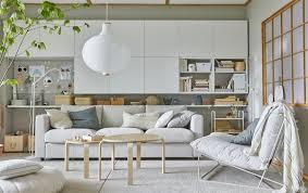 wohnzimmer mit vielen aufbewahrungsmöglichkeiten ikea