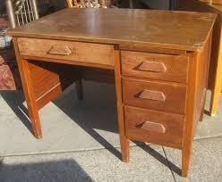 uhuru furniture collectibles sold small oak teacher s desk 60