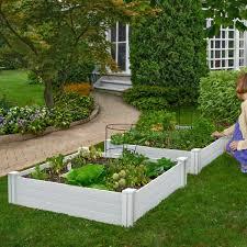 Costway Wooden Vegetable Raised Garden Bed Patio Backyard Grow Flowers Plants Planter