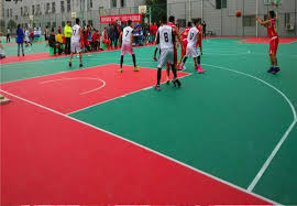 Futsal Interlocking Rubber Floor Tiles For Indoor Square Resilient