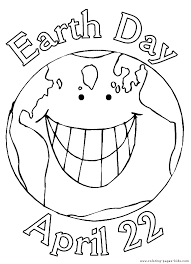 Earth Day Color Page Holiday Coloring Pages Plate Sheet Printable