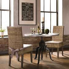 100 Heavy Wood Dining Room Chairs Rustic Industrial Style 3piece Set With Duty Hand Crank Adjustable Height Table