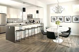 Outstanding Armstrong Vinyl Plank Flooring Dining Room Contemporary With Black Pendant Lights Chandelier Counter Stools Gray