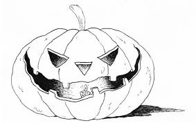Spooky Pumpkin Coloring Sheets For Preschoolers Page