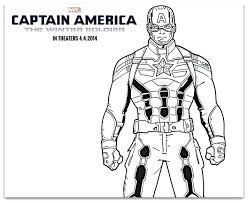 Captain America Coloring Sheets Shield Colouring Pages