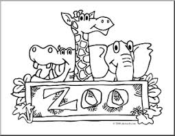 Pin Zoo Clipart Coloring 1