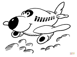 Click The Happy Little Plane Coloring